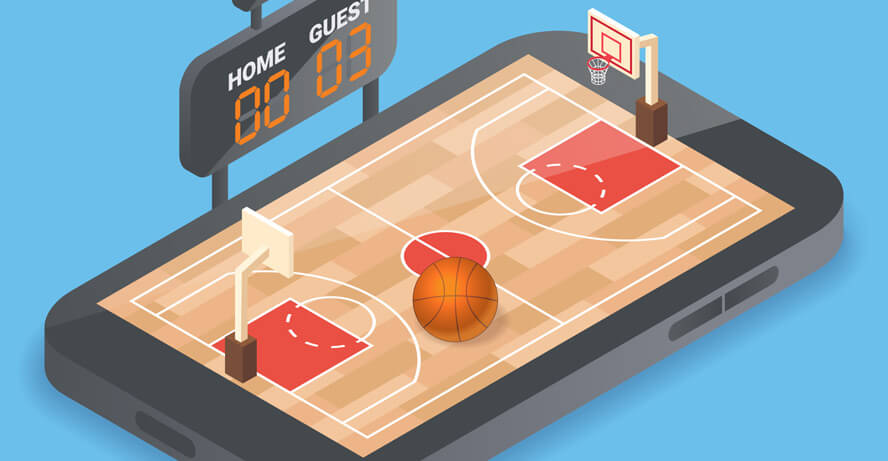 Denver Nuggets vs LA Lakers Game Four nba basketball header image from shutterstock