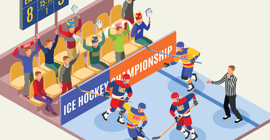 nhl ice hockey header image from shutterstock