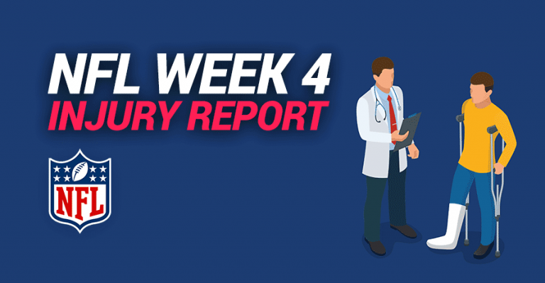 NFL Week 4 Injury Report for Sunday, October 4, 2020