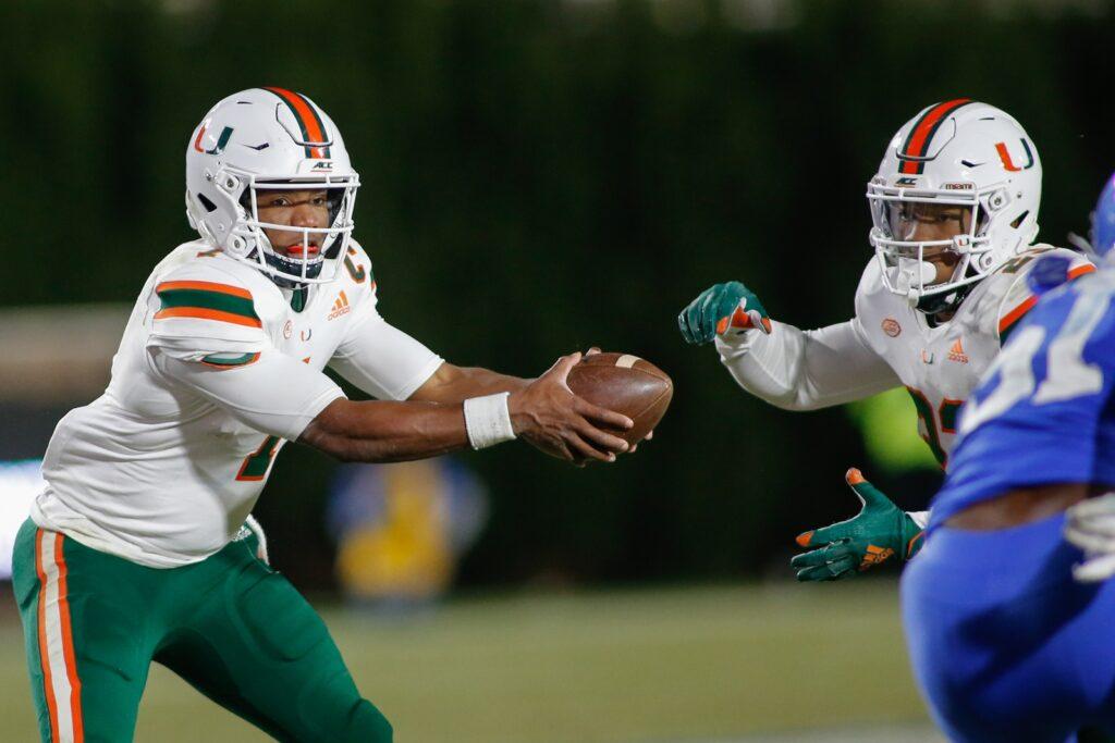Ncaa Football: Miami At Duke