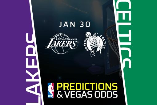 Free NBA Pick: Lakers vs Celtics Prediction & Vegas Odds (30 Jan)