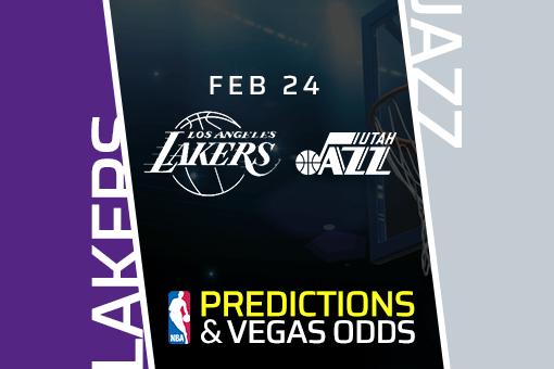 Free NBA Pick: Lakers vs Jazz Prediction & Vegas Odds (Feb 24)