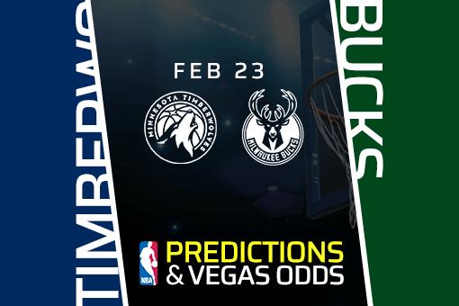 Free NBA Pick: Timberwolves vs Bucks Prediction & Vegas Odds (Feb 23)