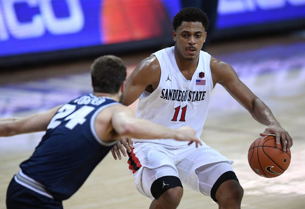 Ncaa Basketball: Mountain West Conference Tournament San Diego St Vs Utah St