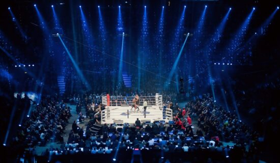 Feb 18, 2012; Munich, GERMANY; A general view during the WBC world championship heavyweight bout between Vitali Klitschko and Dereck Chisora at the Olympic hall in Munich.  Mandatory Credit: Matthias Hangst/Witters Sport via USA TODAY Sports