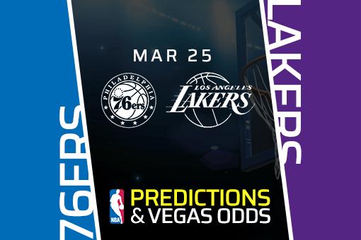 Free NBA Pick: 76ers vs Lakers Prediction & Vegas Odds (Mar 25)