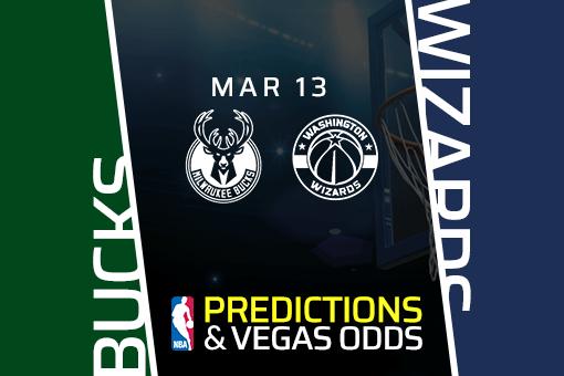 Free NBA Pick: Bucks vs Wizards Prediction & Vegas Odds (Mar 13)