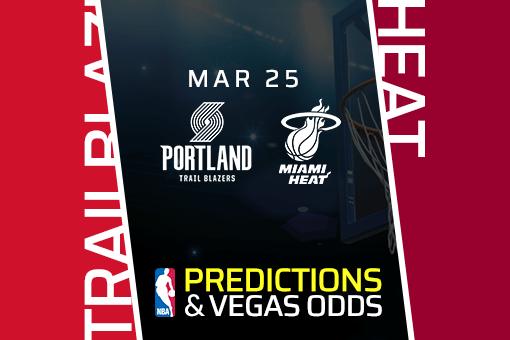 Free NBA Pick: Trail Blazers vs Heat Prediction & Vegas Odds (Mar 25)