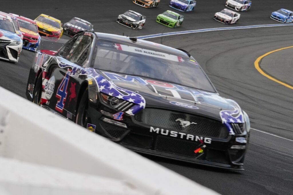 May 30, 2021; Concord, North Carolina, USA; NASCAR Cup Series driver Kevin Harvick (4) during the Coca-Cola 600 at Charlotte Motor Speedway. Mandatory Credit: Jim Dedmon-USA TODAY Sports