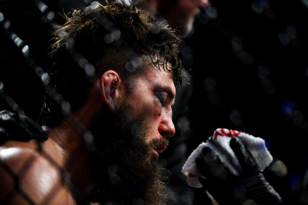 Bryan Barberena receives medical attention after his bout against Randy Brown on UFC Fight Night at the Bon Secours Wellness Arena Saturday, June 22, 2019.  Jm Ufc 062419 006