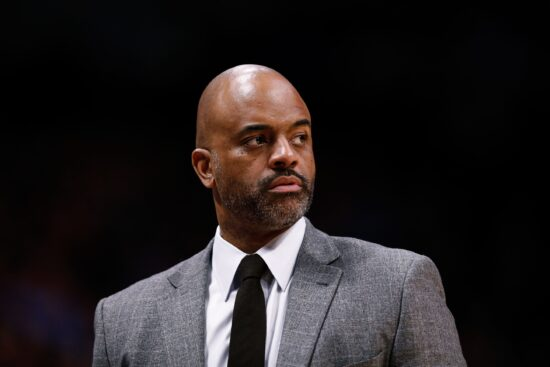 Dec 29, 2019; Denver, Colorado, USA; Denver Nuggets assistant coach Wes Unseld Jr. in the second quarter against the Sacramento Kings at the Pepsi Center. Mandatory Credit: Isaiah J. Downing-USA TODAY Sports