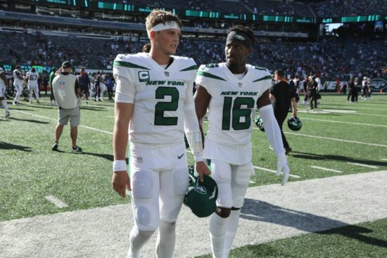 Jets quarterback Zach Wilson threw four interceptions last weekend against the Patriots.The New England Patriots Came To Play The Ny Jets At Metlife Stadium In East Rutherford Nj On September 19 2021