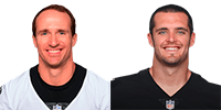 Derek Carr and Drew Brees NFL Highest Paid Player