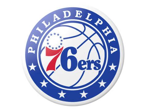 Philadelphia 76ers' official logo.