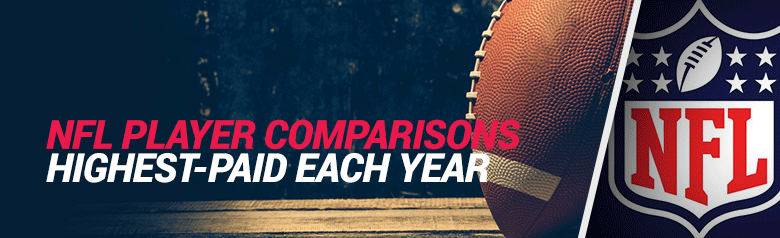 image of nfl player comparisons for the highest paid nfl players each year