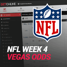Vegas Odds for NFL Week 4 – What Bookies are Saying About Next Weekend's Games