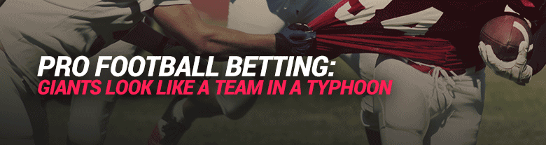image for pro football betting - giants look like a team in a typhoon