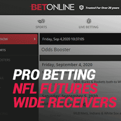 Pro Football Betting – Here Are Some Of Our Favorite NFL Futures Wagers: Wide Receivers