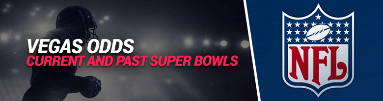 image of vegas odds for current and past super bowls