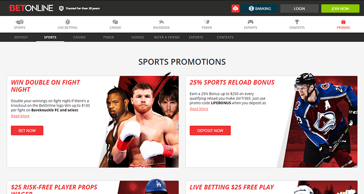 image of betonline's sports promotions