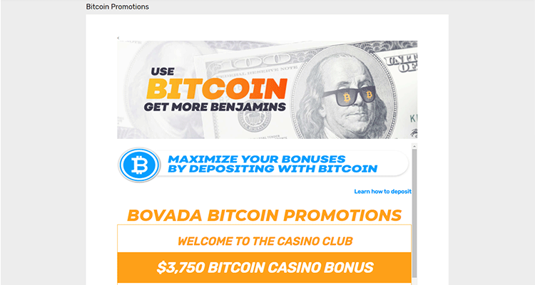 image of bovada's bitcoin and cryptocurrency welcome bonus promotions
