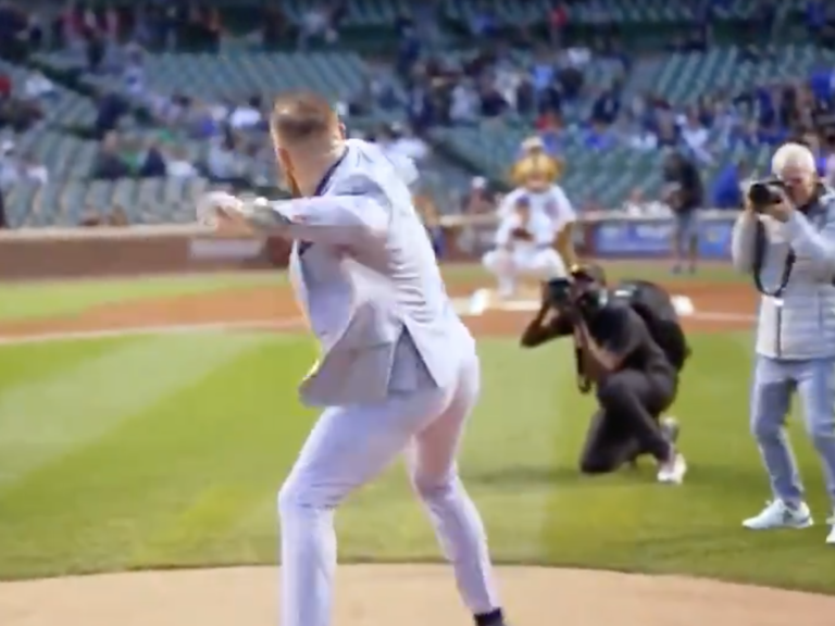 MLB Video: Watch Conor McGregor Throw Wild Chicago Cubs Ceremonial Opening Pitch
