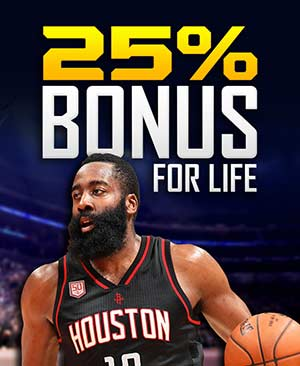 25% Bonus for Life