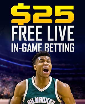 $25 free live in-game betting